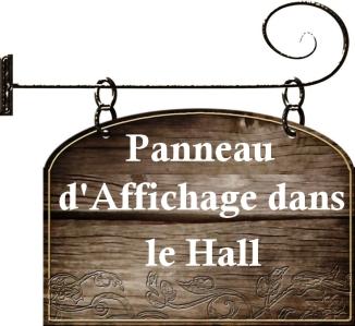 panneau d'affichage dans le hall