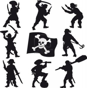 5405854-pirates-des-silhouettes-de-l-39-equipage