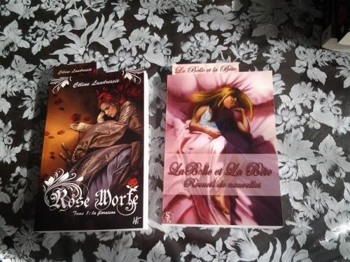 rose morte + la belle et la bête